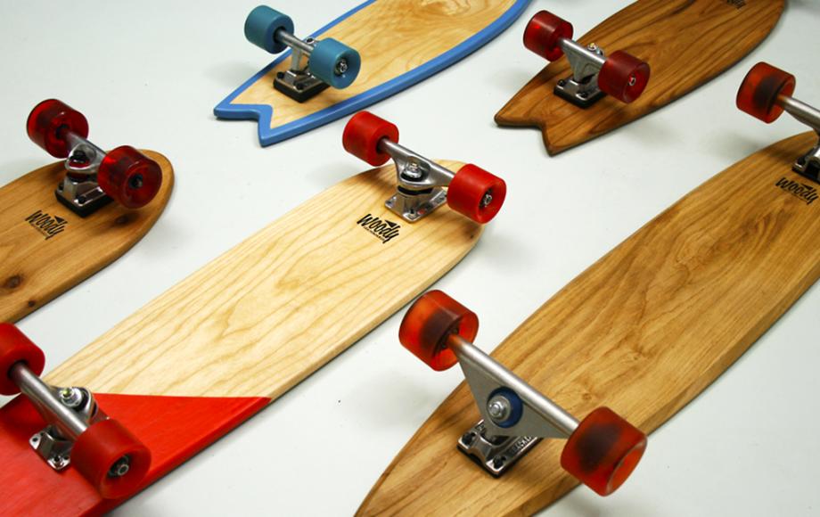 Woody skateboards